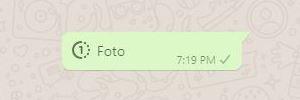 Whatsapp Foto Temporária Chegou Ao Destinatário